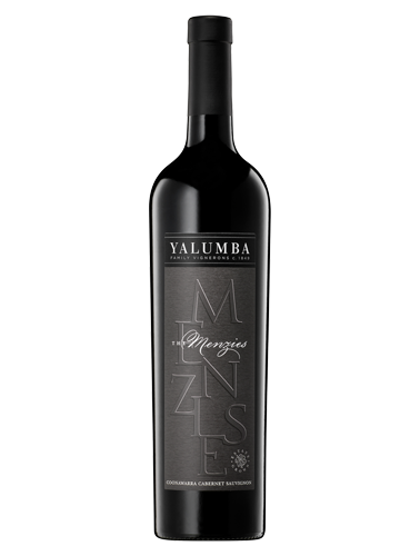 A bottle of 2014 Yalumba The Menzies Coonawarra Cabernet Sauvignon wine - ITM21130