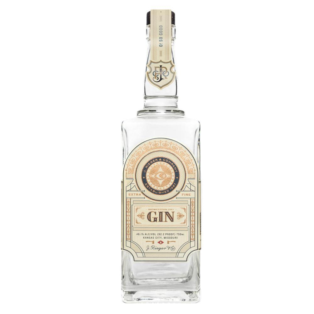 J. Rieger & Co. Midwestern Dry Gin 95 Proof - Grain & Vine | Curated Wines, Rare Bourbon and Tequila Collection