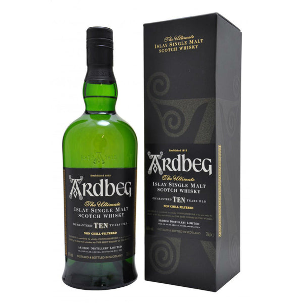 Ardbeg 10 Year Old Single Malt Scotch Whisky - Grain & Vine | Curated Wines, Rare Bourbon and Tequila Collection