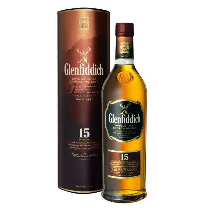 Glenfiddich 15 Year Old Single Malt Scotch Whisky - Grain & Vine | Curated Wines, Rare Bourbon and Tequila Collection
