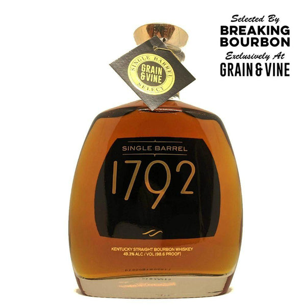 "1792 Single Barrel Breaking Bourbon ""Flavor Bomb"" Pick - Grain & Vine 