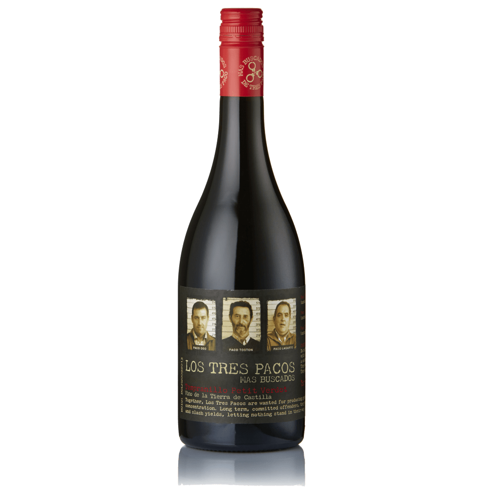 Los Tres Pacos Mas Buscados Vino de la Tierra de Castilla Tempranillo Petit Verdot - Grain & Vine | Curated Wines, Rare Bourbon and Tequila Collection