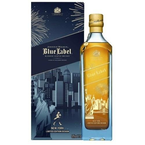 Johnnie Walker Blue Label New York Skyline Limited Edition Blended Scotch Whisky - Grain & Vine | Curated Wines, Rare Bourbon and Tequila Collection
