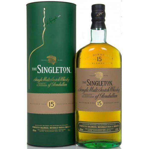 Glendullan Distillery The Singleton 15 Years Speyside Single Malt Scotch Whisky - Grain & Vine | Curated Wines, Rare Bourbon and Tequila Collection