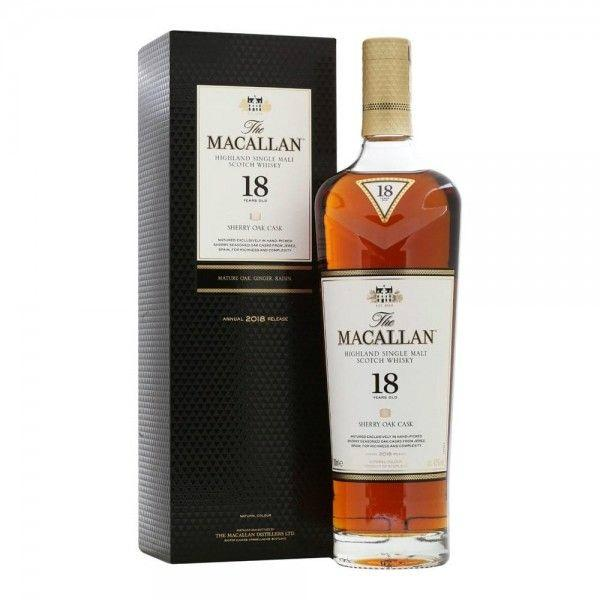 Macallan 18 Years Old Sherry Oak Highland Single Malt Scotch Whisky - Grain & Vine | Curated Wines, Rare Bourbon and Tequila Collection