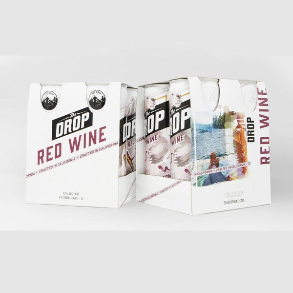 The Drop Red Can 4 Pack - Grain & Vine | Curated Wines, Rare Bourbon and Tequila Collection