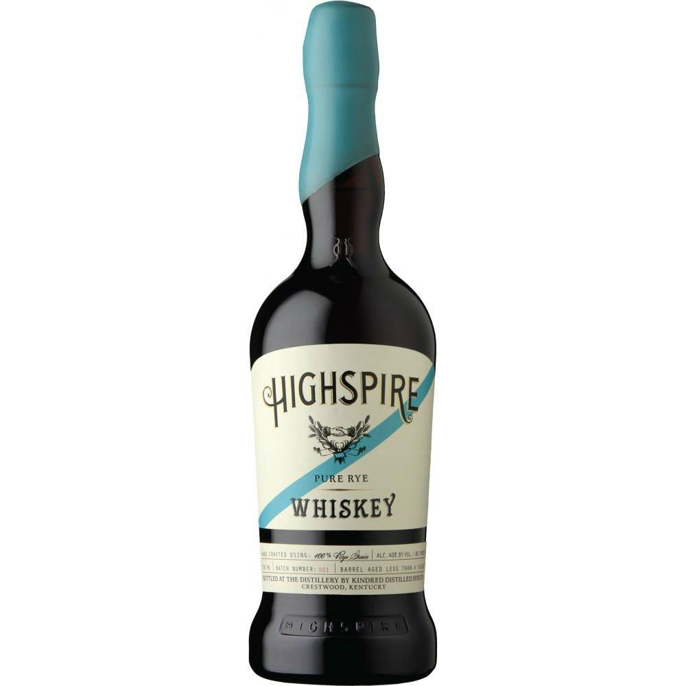 Highspire Pure Rye Whiskey - Grain & Vine | Curated Wines, Rare Bourbon and Tequila Collection