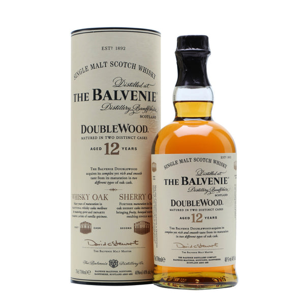 The Balvenie Double Wood 12 Years Single Malt Scotch Whisky - Grain & Vine | Curated Wines, Rare Bourbon and Tequila Collection