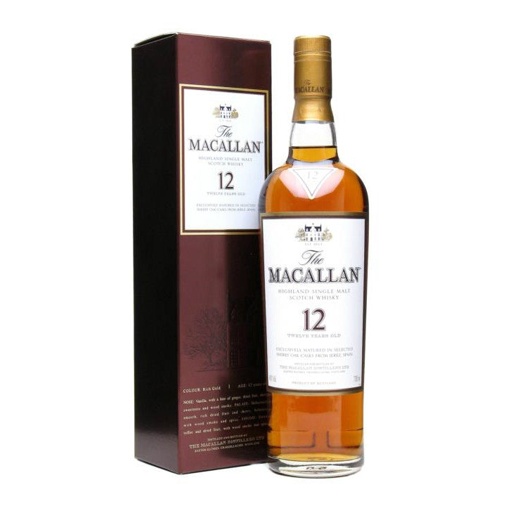 The Macallan 12 Years Old Highland Single Malt Scotch Whisky - Grain & Vine | Curated Wines, Rare Bourbon and Tequila Collection