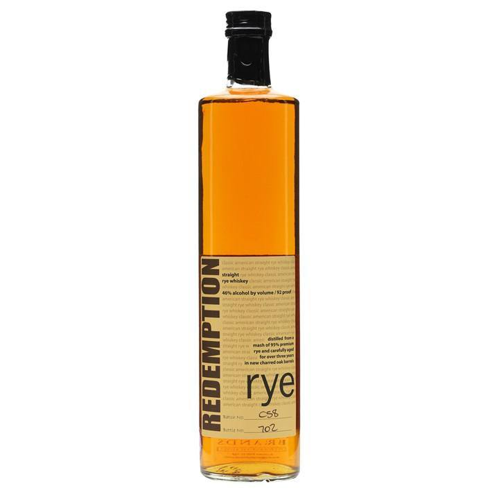 Redemption Rye Whiskey - Grain & Vine | Curated Wines, Rare Bourbon and Tequila Collection