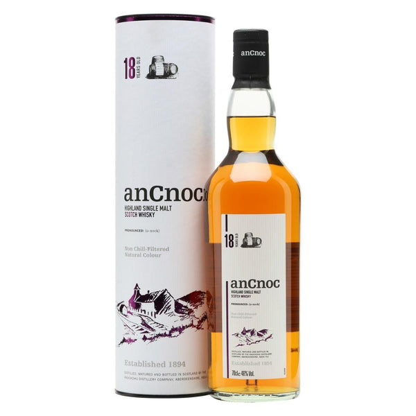AnCnoc 18 Years Highland Single Malt Scotch Whisky - Grain & Vine | Curated Wines, Rare Bourbon and Tequila Collection