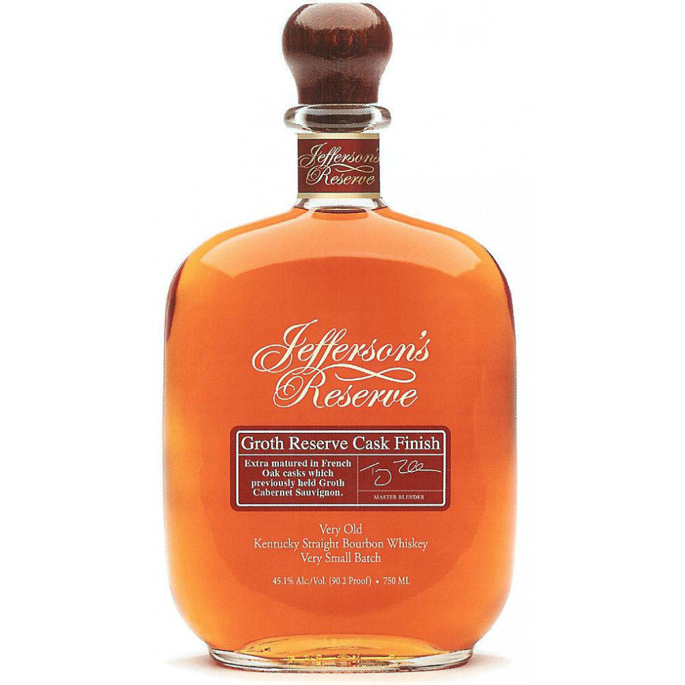 Jeffersons Groth Reserve Cask Finish Very Old Kentucky Straight Bourbon Whiskey - Grain & Vine | Curated Wines, Rare Bourbon and Tequila Collection