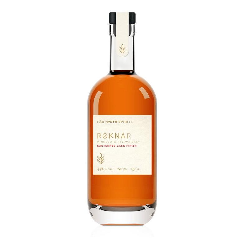 Far North Spirits Roknar Minnesota Rye Whiskey Sauternes Cask Finis - Grain & Vine | Curated Wines, Rare Bourbon and Tequila Collection