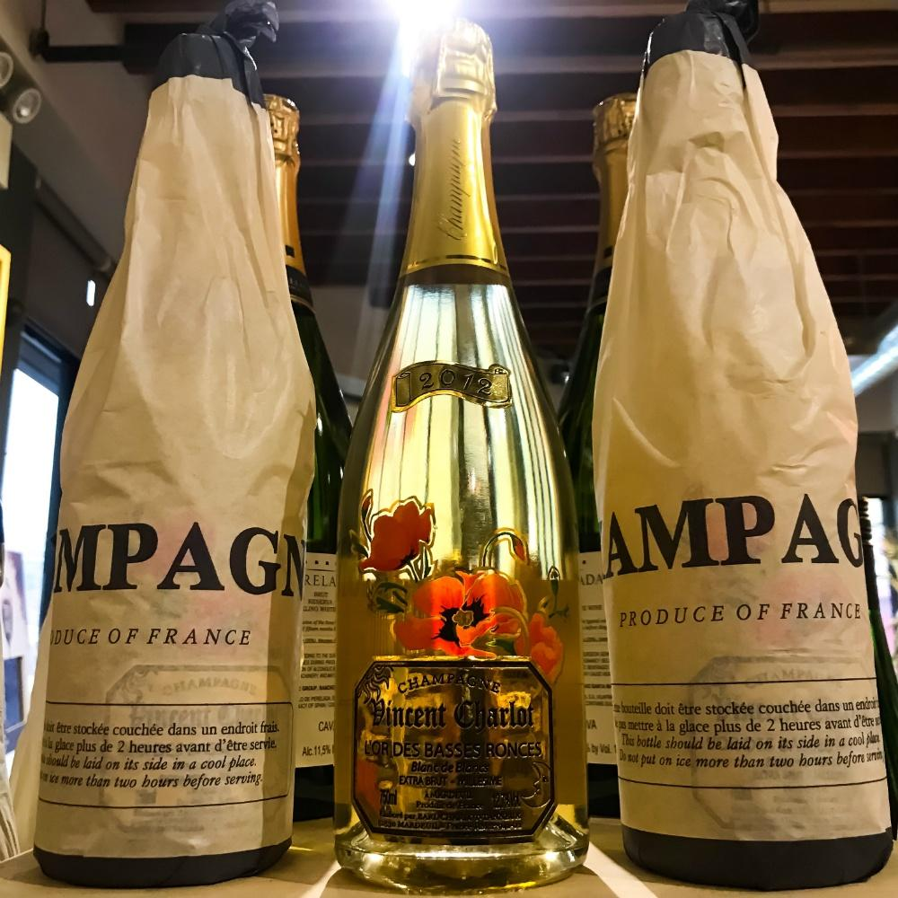 Champagne Vincent Charlot Champagne Extra Brut L'Or Des Basses Ronces Blanc de Blancs - Grain & Vine | Curated Wines, Rare Bourbon and Tequila Collection