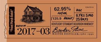 "Booker's ""Front Porch Batch"" Kentucky Straight Bourbon Whiskey - Grain & Vine 