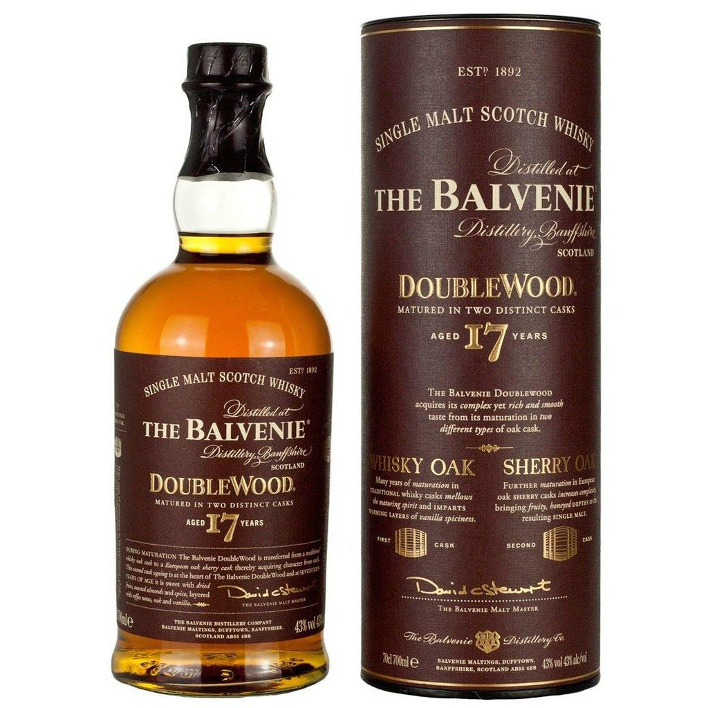 The Balvenie 17 Years Double Wood Single Malt Scotch Whisky - Grain & Vine | Curated Wines, Rare Bourbon and Tequila Collection