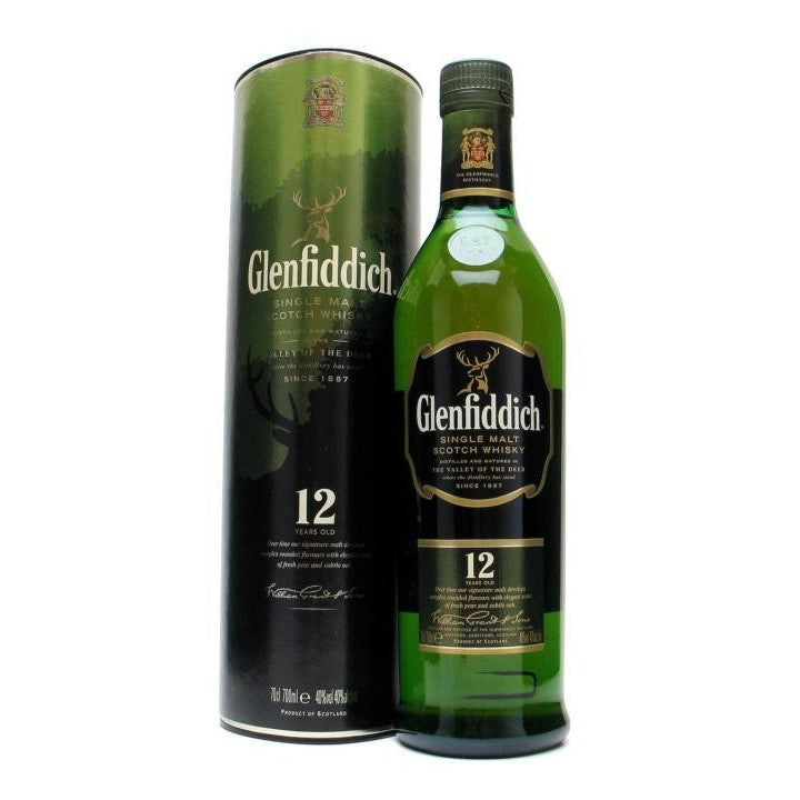 Glenfiddich 12 Years Single Malt Scotch Whisky - Grain & Vine | Curated Wines, Rare Bourbon and Tequila Collection