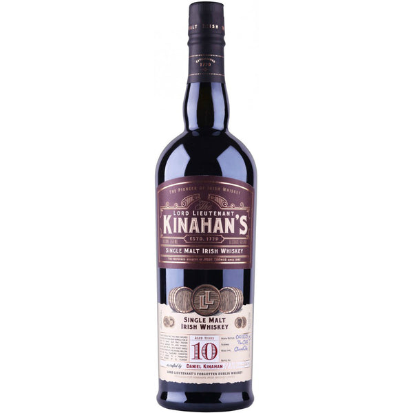 The Lord Lieutenant Kinahan's 10 Year Single Malt Irish Whiskey - Grain & Vine | Curated Wines, Rare Bourbon and Tequila Collection