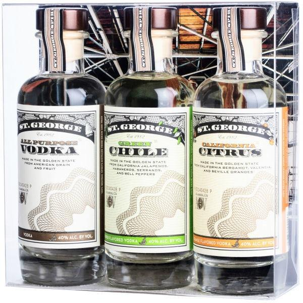 St. George Vodka 3pack Gift Set - Grain & Vine | Curated Wines, Rare Bourbon and Tequila Collection