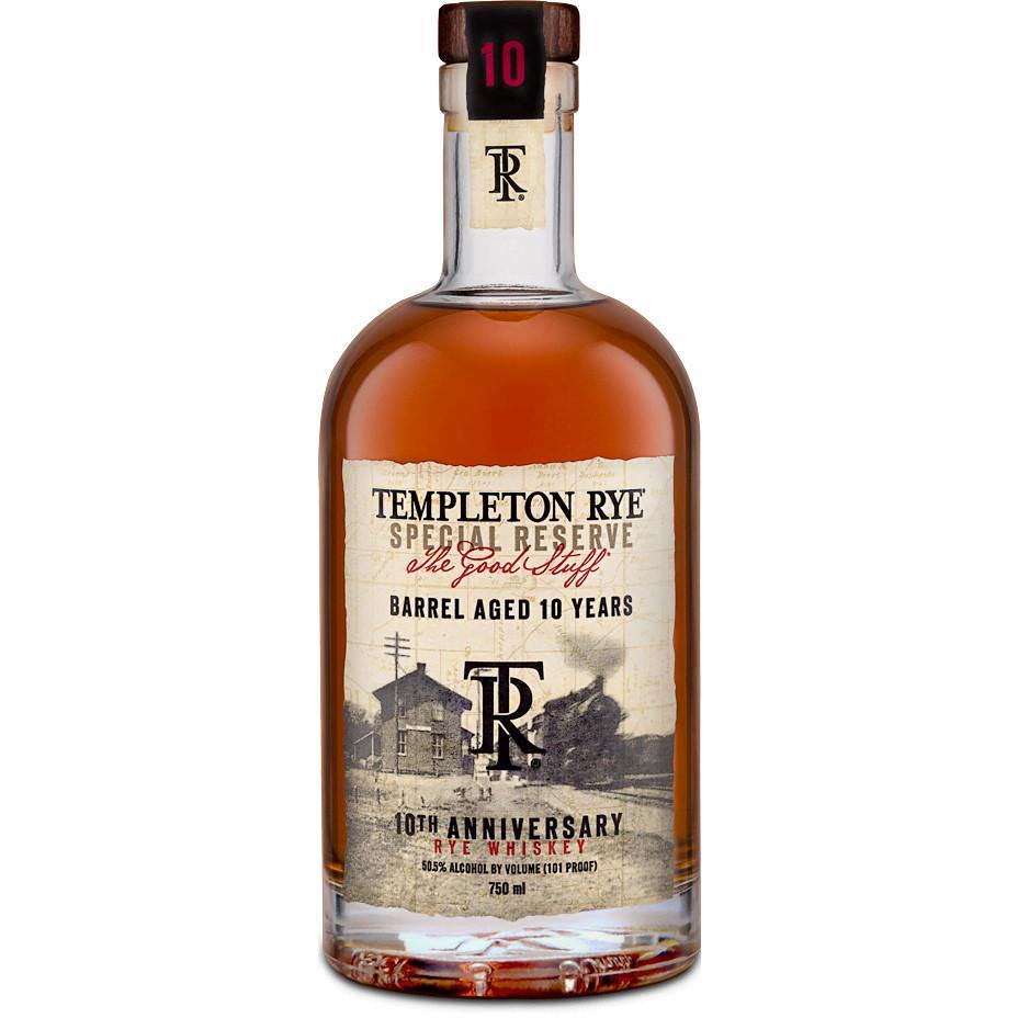 Templeton 10 Years Anniversary Rye Whiskey - Grain & Vine | Curated Wines, Rare Bourbon and Tequila Collection