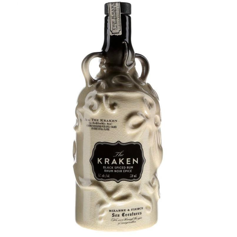 The Kraken Black Spiced Rum Ceramic Bottle - Grain & Vine | Curated Wines, Rare Bourbon and Tequila Collection
