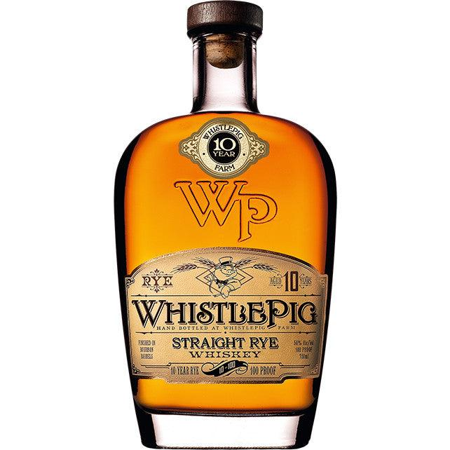 WhistlePig Aged 10 Years Straight Rye Whiskey - Grain & Vine | Curated Wines, Rare Bourbon and Tequila Collection