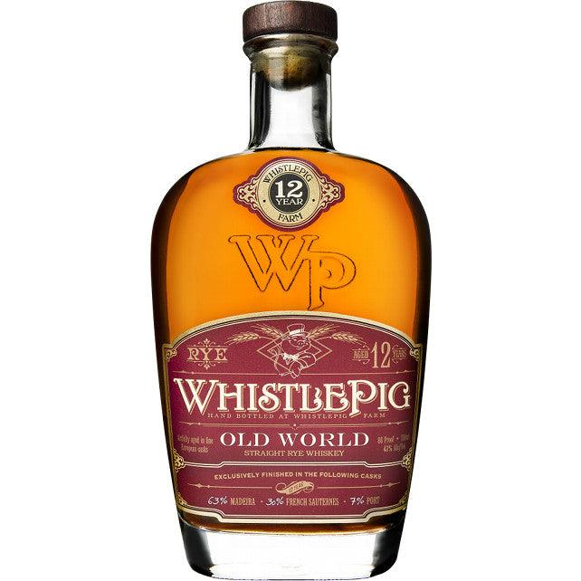 WhistlePig Old World Aged 12 Years Straight Rye Whiskey - Grain & Vine | Curated Wines, Rare Bourbon and Tequila Collection