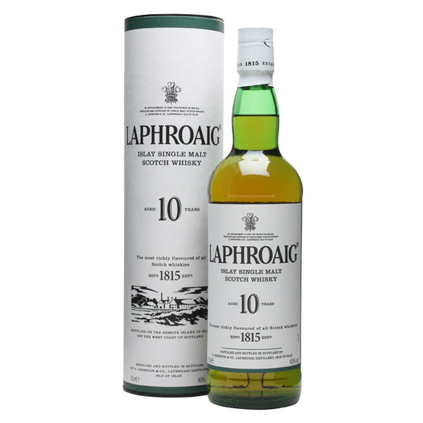 Laphroaig 10 Years Islay Single Malt Scotch Whisky - Grain & Vine | Curated Wines, Rare Bourbon and Tequila Collection