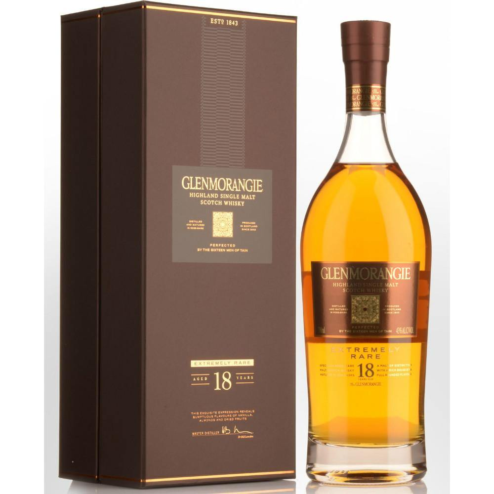 Glenmorangie Extremely Rare 18 Years Old Highland Single Malt Scotch Whisky - Grain & Vine | Curated Wines, Rare Bourbon and Tequila Collection