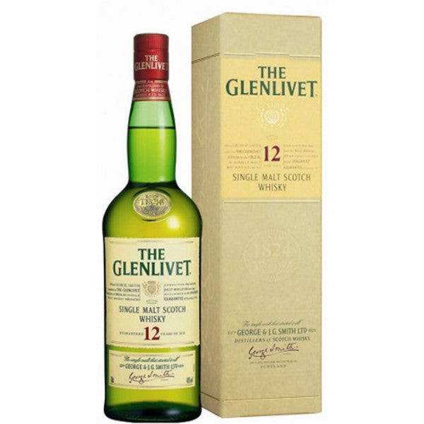 The Glenlivet 12 Years Old Single Malt Scotch Whisky - Grain & Vine | Curated Wines, Rare Bourbon and Tequila Collection