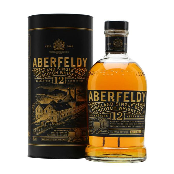 Aberfeldy 12 Years Highland Single Malt  Scotch Whisky - Grain & Vine | Curated Wines, Rare Bourbon and Tequila Collection
