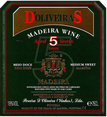 D'Oliveira Medium Sweet 5 Year Old Madeira - Grain & Vine | Curated Wines, Rare Bourbon and Tequila Collection
