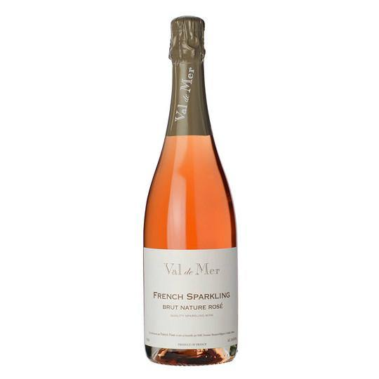 Val de Mer French Sparkling Brut Nature Rose - Grain &Vine | Curated Wines, Rare Bourbon and Tequila Collection