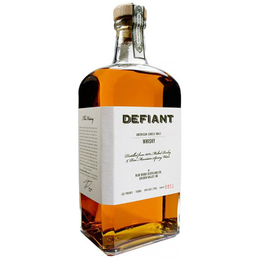 Defiant American Single Malt Whisky - Grain & Vine | Curated Wines, Rare Bourbon and Tequila Collection