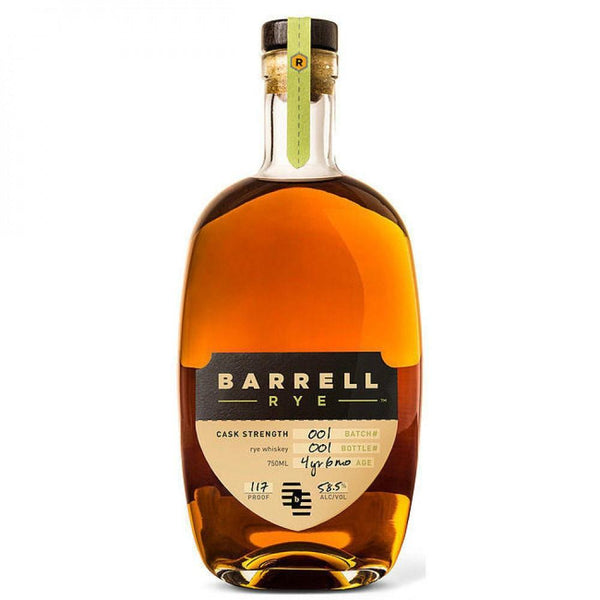 Barrell Rye Cask Strength Rye Whiskey Batch#001 - Grain & Vine | Curated Wines, Rare Bourbon and Tequila Collection