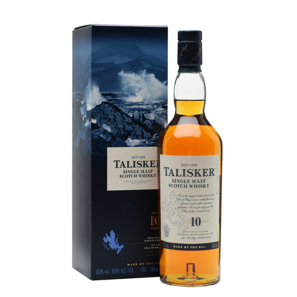 Talisker 10 Years Single Malt Scotch Whisky - Grain & Vine | Curated Wines, Rare Bourbon and Tequila Collection