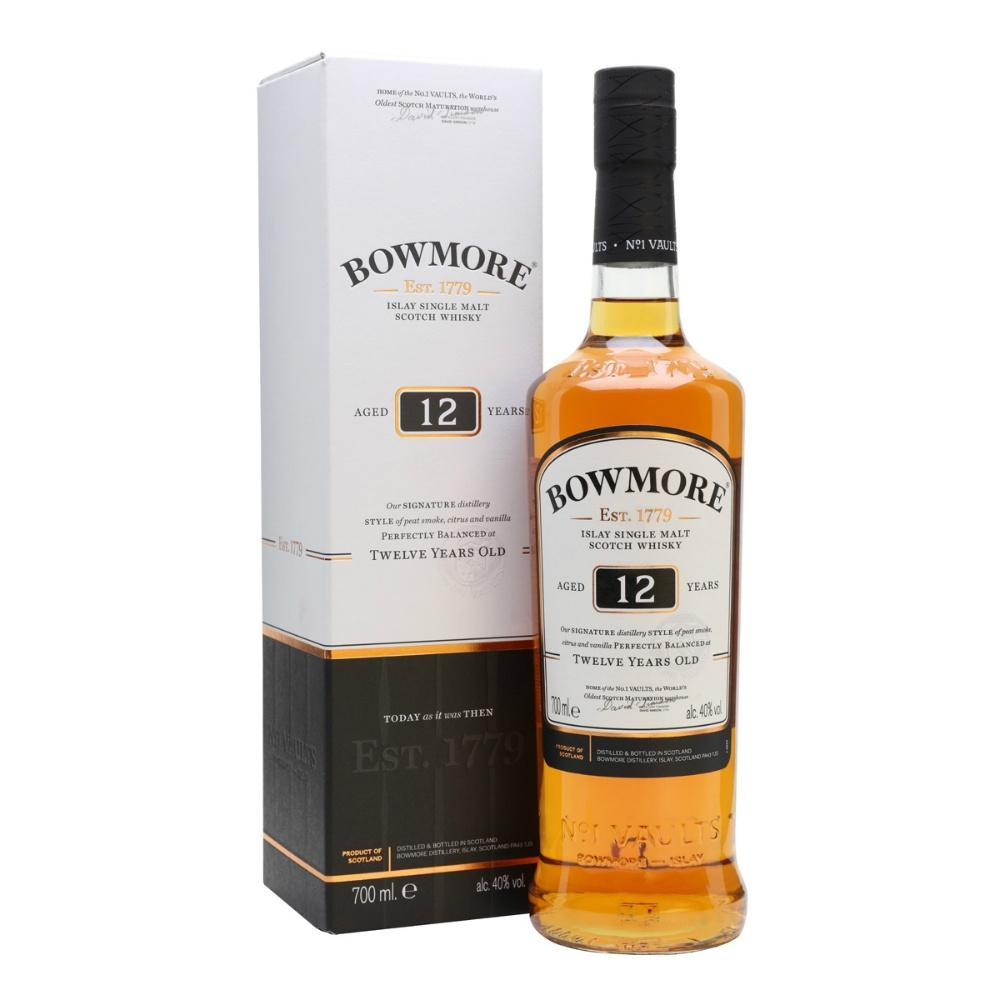 Bowmore 12 Years Islay  Single Malt Scotch Whisky - Grain & Vine | Curated Wines, Rare Bourbon and Tequila Collection