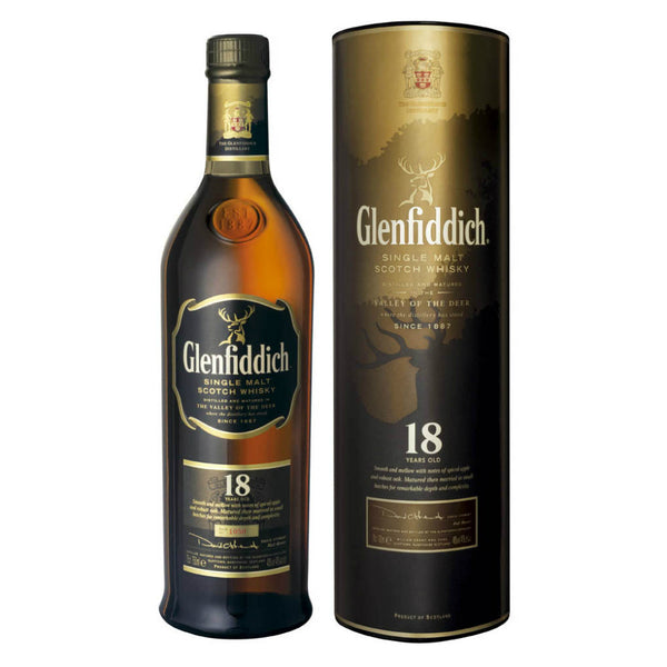 Glenfiddich 18 Years Single Malt Scotch Whisky - Grain & Vine | Curated Wines, Rare Bourbon and Tequila Collection