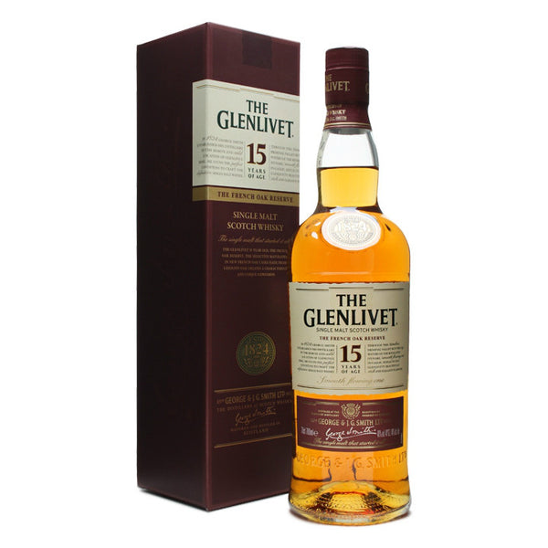 The Glenlivet 15 Years Single Malt Scotch Whisky - Grain & Vine | Curated Wines, Rare Bourbon and Tequila Collection