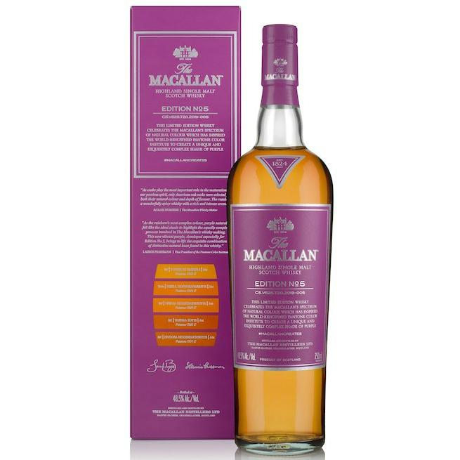 Macallan Edition No. 5 Single Malt Scotch Whisky - Grain & Vine | Curated Wines, Rare Bourbon and Tequila Collection