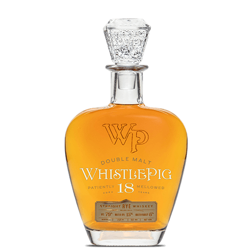 WhistlePig Double Malt 18 Year Old Straight Rye Whiskey - Grain & Vine | Curated Wines, Rare Bourbon and Tequila Collection