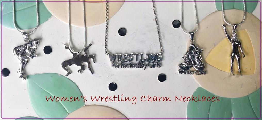 girls wrestling jewelry, novels, knee pads