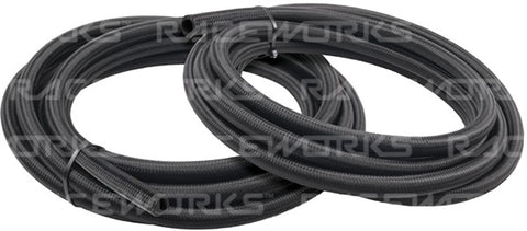 120 Series Cutter Black Nylon Braided Hose - 1 Metre