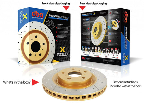 T2 Street Series X-GOLD  (Front Rotors)