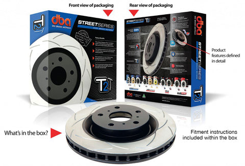 DBA - T2 Street Series (Front Rotor) - Boosted Performance Parts
