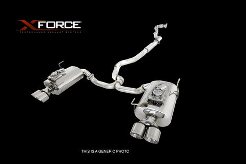 XForce - Cat-Back System w/ 3inch Dual Quad Tip Stainless Steel (WRX 15 Sedan) - Boosted Performance Parts