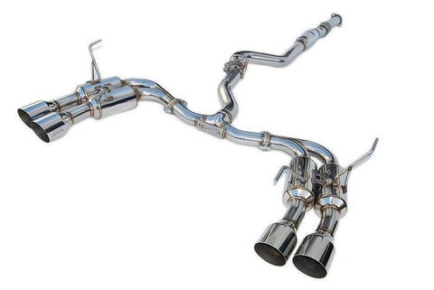 R400 Cat Back Exhaust w/ SS Tips Straight Cut (WRX/STI MY11-18 Sedan)