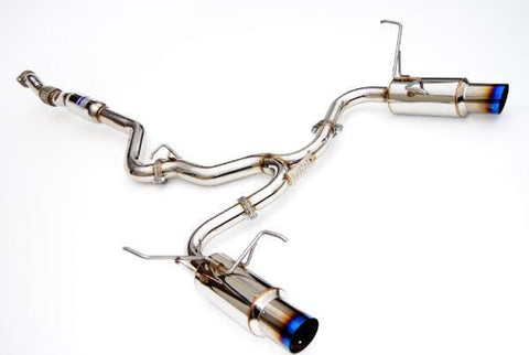 N1 Turbo Back Exhaust w/Titanium Tips (WRX/STI MY08-14 Hatch)