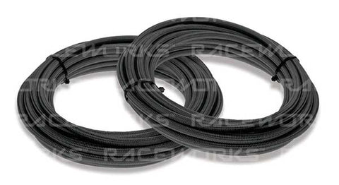 240 Series Teflon Black Nylon Braided Hose - 5 Metre