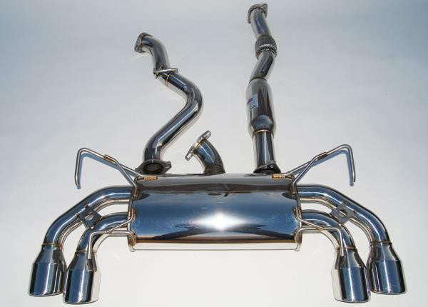 Invidia - Q300 Turbo Back Exhaust w/Polished Tips (STI 08-14 Hatch) - Boosted Performance Parts